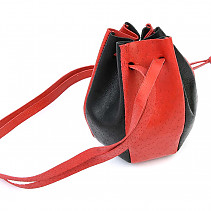 Red-black leather bag