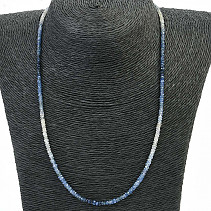 Sapphire necklace cut Ag fastening 45cm