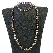 Amethyst and citrine jewelry set (50cm + uni)