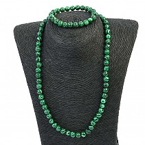 Malachite jewelry set (necklace, bracelet)