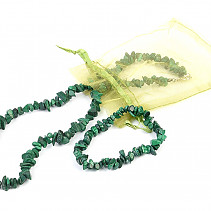 Malachite bracelet, necklace 45cm chopped shapes