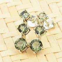Moldavite earrings 3,4 and 5mm standard cut slip Ag 925/1000