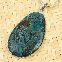 Turquoise pendant larger Ag 925/1000 13.7g