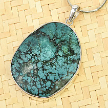 Turquoise pendant larger Ag 925/1000 18.0g