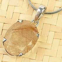 Sagenit Ag 925/1000 faceted pendant