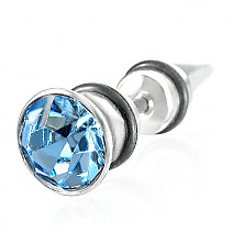 Piercing tip with blue zircon