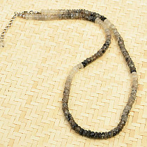 Tourmaline in Crystal Strips Necklace Faceted Ag Closure