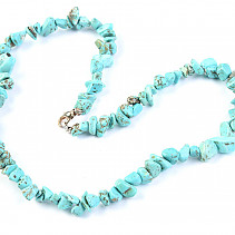Turquoise necklace chopped shapes 45 cm
