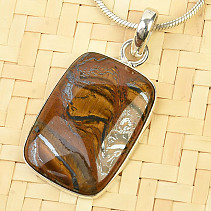 Tiger iron 18 x 25mm pendant Ag 925/1000