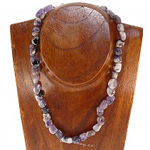 Tumbled stones Amethyst necklace 45 cm
