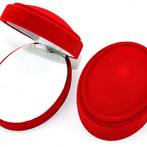 Gift box red oval 8.3 x 6.4 cm
