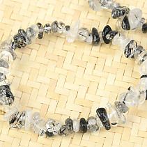 In tourmaline crystal bracelet chopped shapes