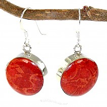 Mushroom coral ring earrings Ag