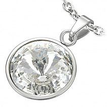 Ladies Stainless steel pendant steel VPL042