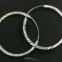 Earrings silver rings decorated with 30 mm typ095