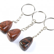 Key ring mahogany obsidian