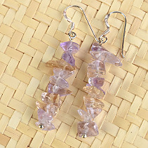 Ametrine earrings chopped shapes