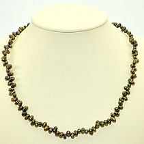 Pearls zig-zag dark - Necklace 45cm