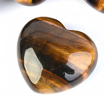 Tiger Eye Heart in hand 45 mm