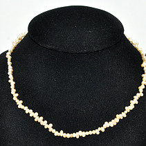 Pearls zig-zag cream - Necklace 45cm