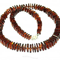 Cubes of honey amber necklace (Lithuania) 45 cm