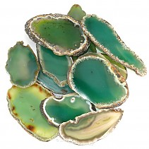 Dyed green agate slice