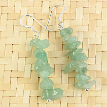 Aventurine Earrings Ag