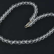 Crystal necklace beads cut 8 mm 47 cm
