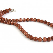 Aventurine synthetic beads necklace 45 cm