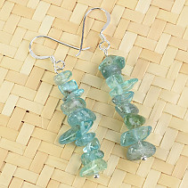Blue Apatite earrings Ag
