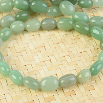 Aventurine bracelet light smoothed cubes
