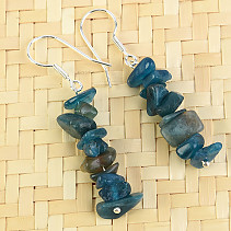Apatite earrings navy Ag