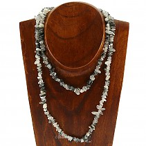 Tourmaline necklace in crystal shapes chopped 90 cm
