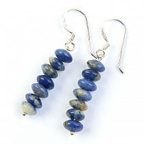 Sodalite earrings pennies Ag