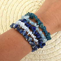 Bracelet chopped 5 pieces - blue mixture