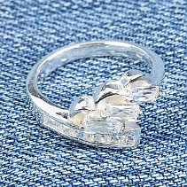 Silver ring with cubic zirconia Ag 925/1000 4.1 grams