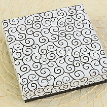 Paper gift box white and black 9x9cm