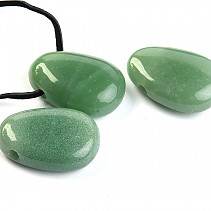 Aventurine oval pendant on leather