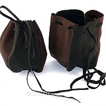 Leather purse brown-black