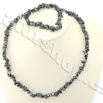 Hematite jewelry set - necklace + bracelet