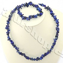 Lapis lazuli jewelry set - necklace + bracelet