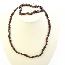 Garnet jewelry set - necklace + bracelet
