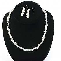 Moonstone jewelry set - necklace + earrings