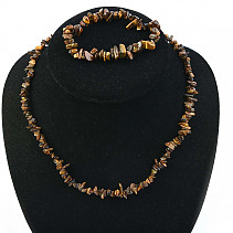 Tiger eye jewelry set - necklace + bracelet