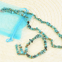 Turquoise jewelry set - necklace + earrings