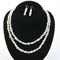 Moonstone Jewelry - Necklace dl. + Earrings