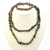Smoky quartz jewelry set - necklace dl. + Bracelet