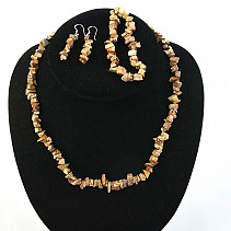 Image jasper jewelry - necklace + bracelet + earrings