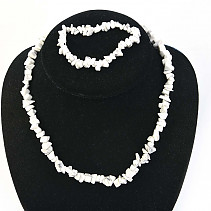 Magnesite jewelry set - necklace + bracelet