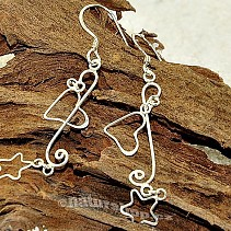 Fine silver earrings with hearts Ag 925/1000